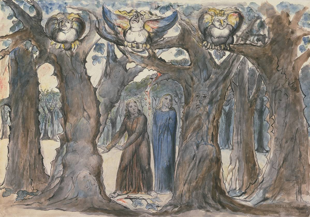 William Blake illustration of Dante's Divine Comedy